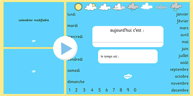 Today's Date Presentation Editable French - french, presentation, date, today, editable