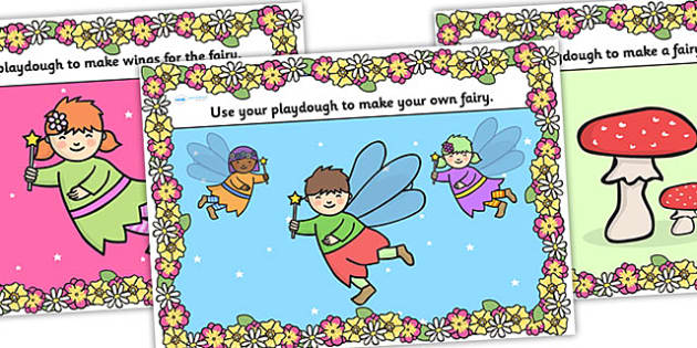 Fairy Playdough Mats - fairy, faries, traditional tales playdough mats, fairy playdough, fantasy, fantasy playdough mats, fantasy activities, playdough mat