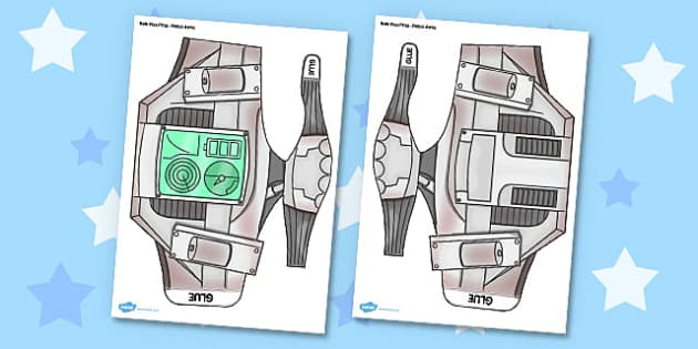 Robot Printable Role-Play Arms - robot, role-play, arms, craft, activity