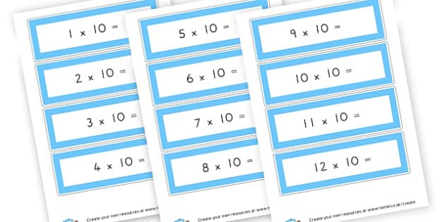 times ten no answers - display lettering - Times Tables Primary Resources, multiply, times, number of, games, Times, Table, Tabe