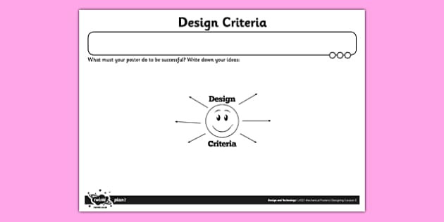 Design Criteria Activity Sheet - Go Green, Eco, recycle, warrior, environment, worksheet