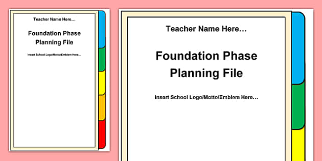 Foundation Phase Planning Front Cover A4 Display Poster-Welsh