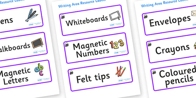 Magical Themed Editable Writing Area Resource Labels - Themed writing resource labels, literacy area labels, writing area resources, Label template, Resource Label, Name Labels, Editable Labels, Drawer Labels, KS1 Labels, Foundation Labels, Foundatio