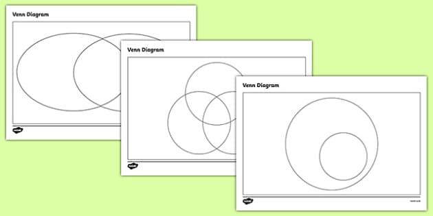 Venn Diagram Templates Pack - venn diagrams, venn, venn diagram worksheets, blank venn diagrams, venn diagram packs, venn diagram templates, ks2 diagrams
