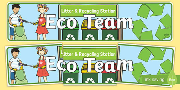 Eco Team Display Banner - banners, displays, poster, visual
