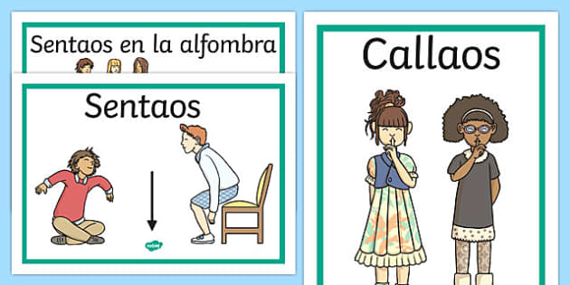 Spanish Classroom Instructions Display Posters Display Posters