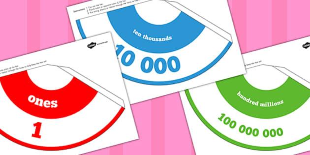 Place Value Hats - place value, hats, place, value, maths, numeracy