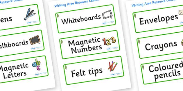 Poplar Tree Themed Editable Writing Area Resource Labels - Themed writing resource labels, literacy area labels, writing area resources, Label template, Resource Label, Name Labels, Editable Labels, Drawer Labels, KS1 Labels, Foundation Labels, Found