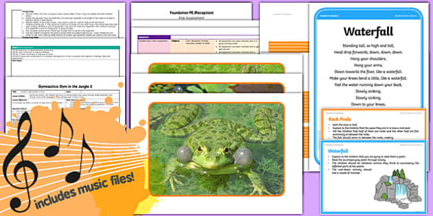 Foundation PE (Reception) - Gymnastics - Gym in the Jungle Lesson Pack 5: Frozen Frogs - EYFS, PE, Physical Development, Planning