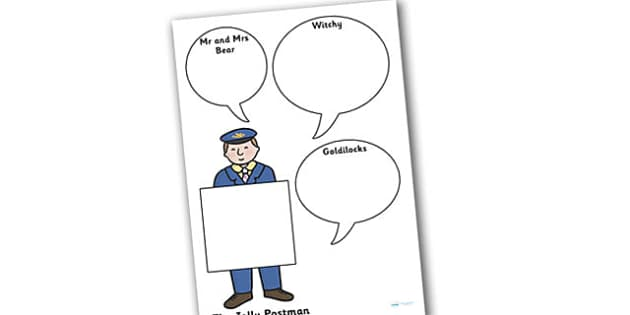 Role on the Wall Activity Sheet to Support Teaching on The Jolly Postman - the jolly postman, role on the wall, worksheets, the jolly postman worksheets, role on the wall worksheets