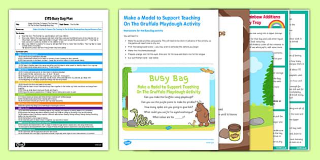 Make A Model To Support Teaching On The Gruffalo EYFS Busy Bag Plan and Resource Pack - pasta, playdough, Julia Donalsdon, Axel Scheffler, Gruffalo