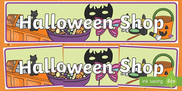 Halloween Shop Display Banner