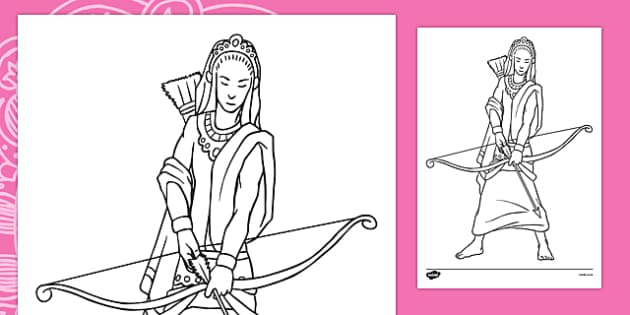 Rama Colouring Page
