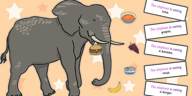 Feed the Elephant Sentence Activity - sentence activity, elephant