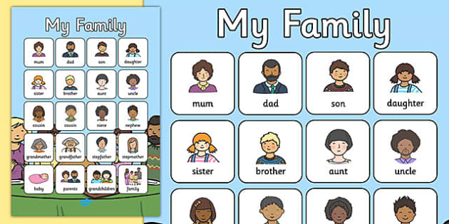 My Family Vocabulary Poster - my family, vocabulary poster, vocabulary, poster, display