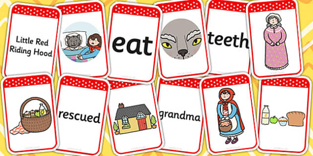 Little Red Riding Hood Matching Flashcards - flashcards, match