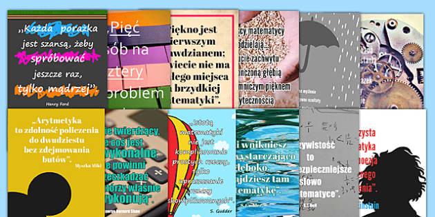 Plakaty z cytatami Matematyka po polsku