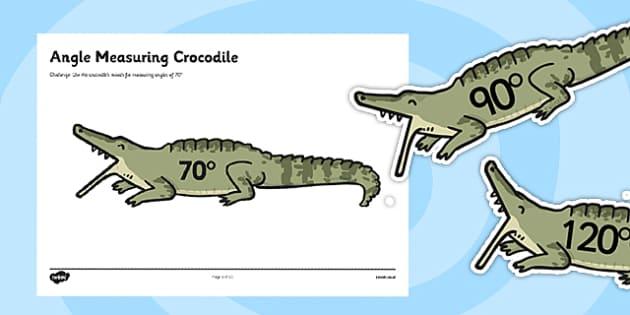 Angle Measuring Crocodiles - angle measuring, angle eater,  measuring angles, angles, measuring, angles on crocodiles, measuring on crocodiles