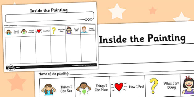 Inside the Painting Activity Sheet - activities, worksheet, paint