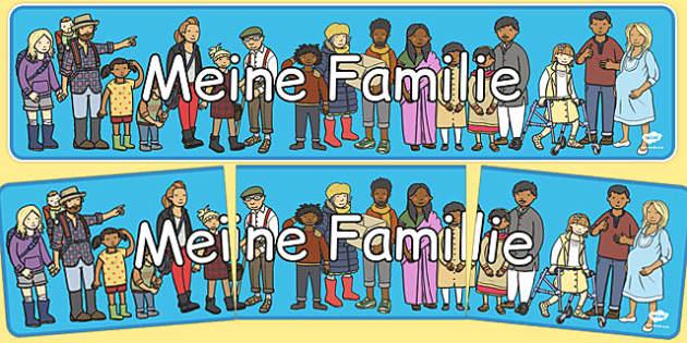 Meine Familie Display Banner German - german, my family, display banner, display, banner, family