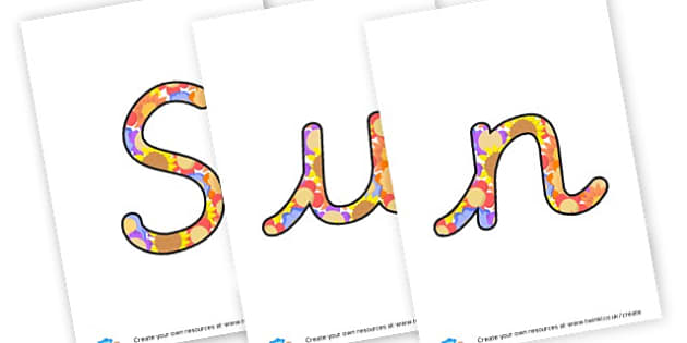 Sun Flower Cursive - display lettering - Sunflower Themed Classroom Signs Primary Resources, classroom