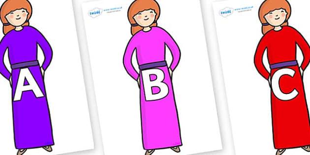 A-Z Alphabet on Jacks Mum - A-Z, A4, display, Alphabet frieze, Display letters, Letter posters, A-Z letters, Alphabet flashcards