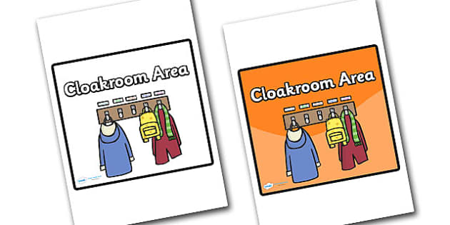 Cloakroom Area Sign - sign, display sign, area display sign, area sign, cloakroom, cloakroom sign, cloakroom area, school areas, classroom area signs