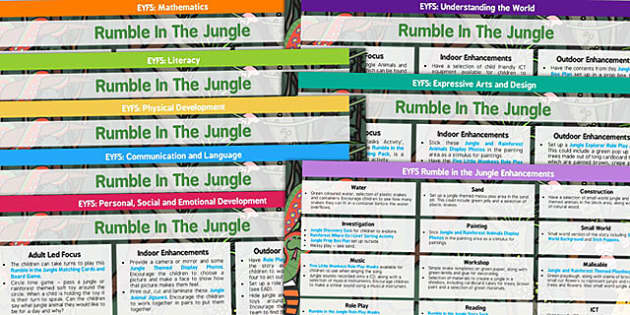 EYFS Lesson Plan and Enhancement Ideas to Support Teaching on Rumble in the Jungle