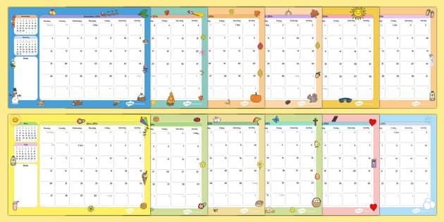 2016 Themed Calendar - 2016, themed, calendar, 2016 calendar, year