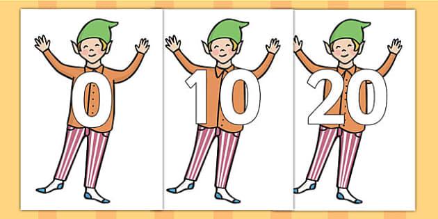 0 20 on Elves - elf, stories, xmas, numbers, display, counting