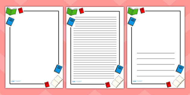 Literacy Page Borders Literacy writing page border a4 – Border Paper Template