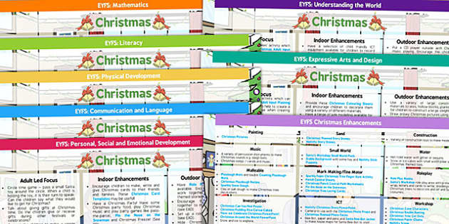 EYFS Christmas Themed Lesson Plan And Enhancement Ideas - christmas, lesson plan, EYFS