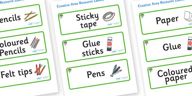 Rowan Tree Themed Editable Creative Area Resource Labels - Themed creative resource labels, Label template, Resource Label, Name Labels, Editable Labels, Drawer Labels, KS1 Labels, Foundation Labels, Foundation Stage Labels