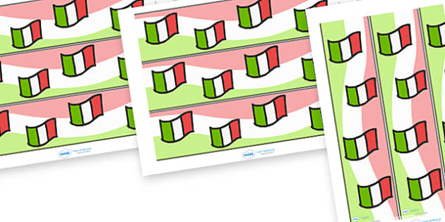 Italian Display Borders - Italian, Italy, display border, classroom border, border, MFL, Italian, Modern Foreign Languages, foundation, languages, display, italiano