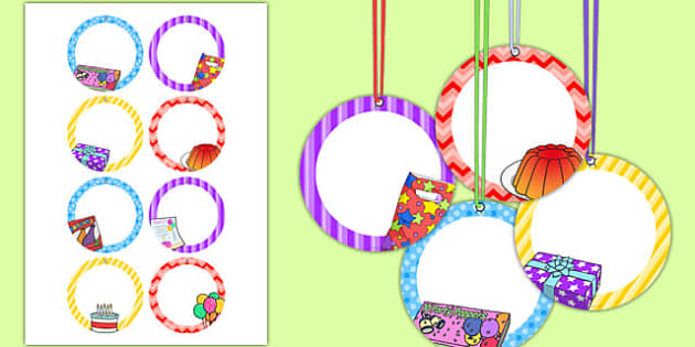 10th Birthday Party Name Tags - 10th birthday party, 10th birthday, birthday party, name tags