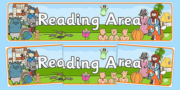 Reading Area Display Banner EYFS - reading, eyfs, banner, display
