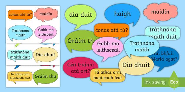 Social Greetings Prompt Cards Gaeilge - gaeilge, social, greeting, prompt cards, prompt, cards
