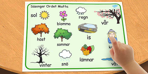 Swedish Seasons Word Mat - swedish, seasons, word mat, word, mat