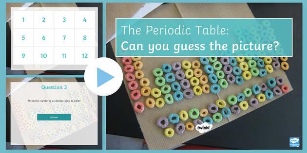 Periodic Table PowerPoint Quiz PowerPoint - PowerPoint Quiz, Periodic Table, Mendeleev, Elements, Protons, Neutrons, Electrons, Metals, Non-meta