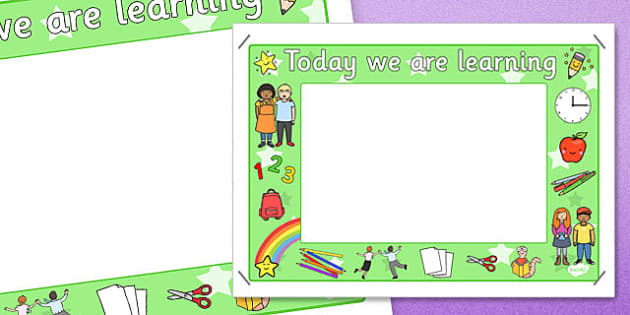 Today We Are Learning Display Sign Green - display sign, green