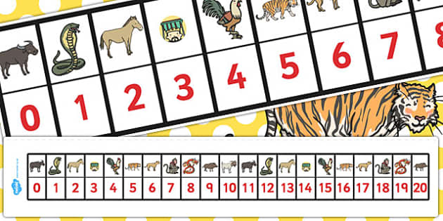 Chinese New Year Story Number Track 0-20 - number track, chinese