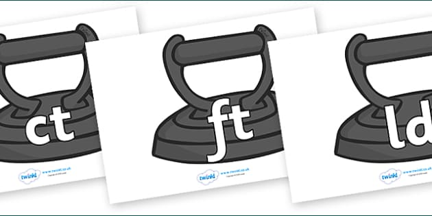 Final Letter Blends on Irons - Final Letters, final letter, letter blend, letter blends, consonant, consonants, digraph, trigraph, literacy, alphabet, letters, foundation stage literacy