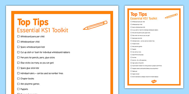 Essential KS1 Toolkit Top Tips