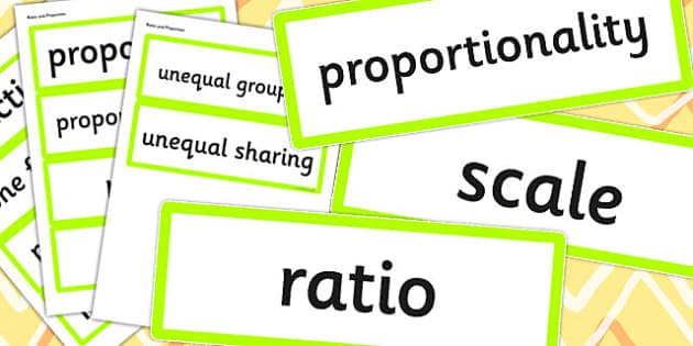 Year 6 2014 Curriculum Ratio and Proportion Vocabulary Cards