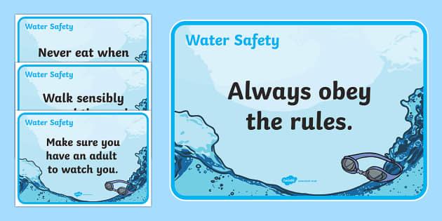 Water Safety Posters - water safety, water, safety, posters, display