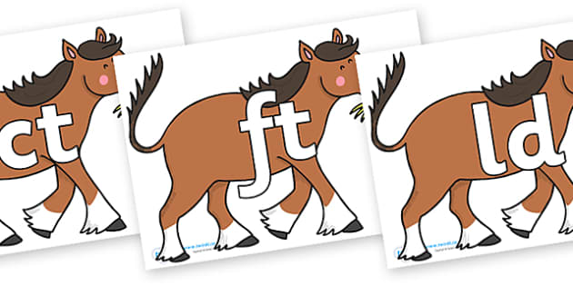 Final Letter Blends on Hullabaloo Carthorse to Support Teaching on Farmyard Hullabaloo - Final Letters, final letter, letter blend, letter blends, consonant, consonants, digraph, trigraph, literacy, alphabet, letters, foundation stage literacy