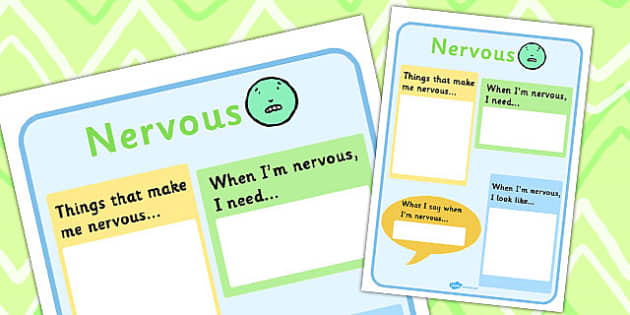 Nervous Chart - feelings, emotions, SEN, class management, charts