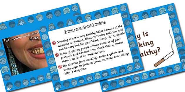 Anti-Smoking Information PowerPoint - smoking, health, healthy