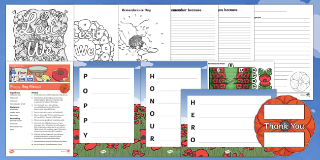 KS1 Remembrance Day  Activity Pack