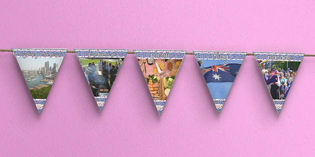 Australia Day Display Photo Bunting - australia, display, bunting